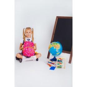 Рюкзак детский, отдел на молнии, наружный карман, 2 боковые сетки, дышащая спинка, цвет розовый