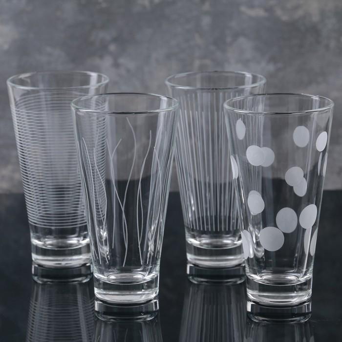 Набор стаканов «Лаунж клаб», 350 мл, 4 шт - фото 219052