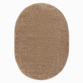 Ковёр Фризе «Шегги», цвет светло-кофейный, овал 100х200 см