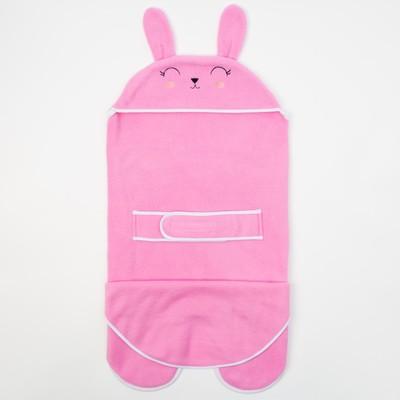 """Конверт-одеяло Крошка Я """"Зайка"""", розовый, рост 62-68 см"""