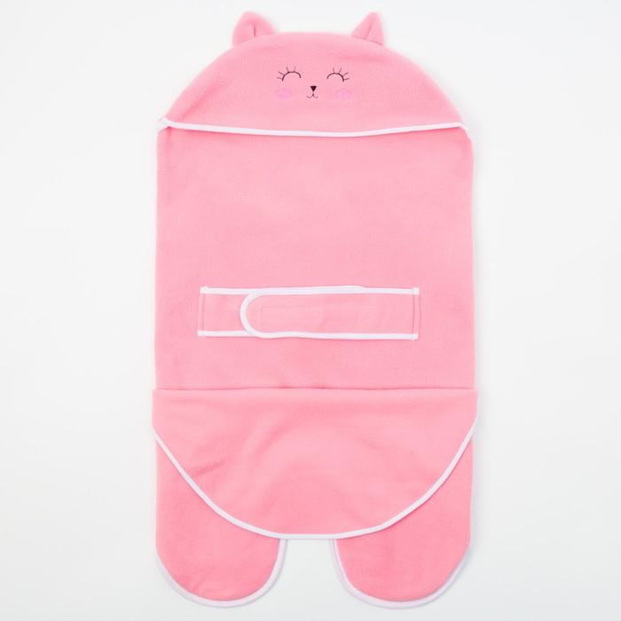 Конверт-одеяло Крошка Я «Кошечка», розовый, рост 62–68 см