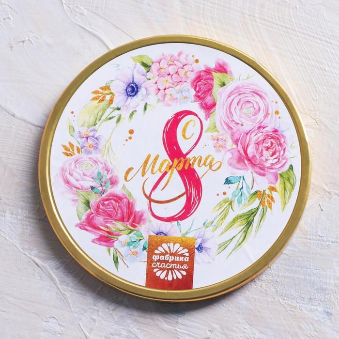 """Шоколадная медаль """"С 8 Марта"""", цветы, 25 г"""