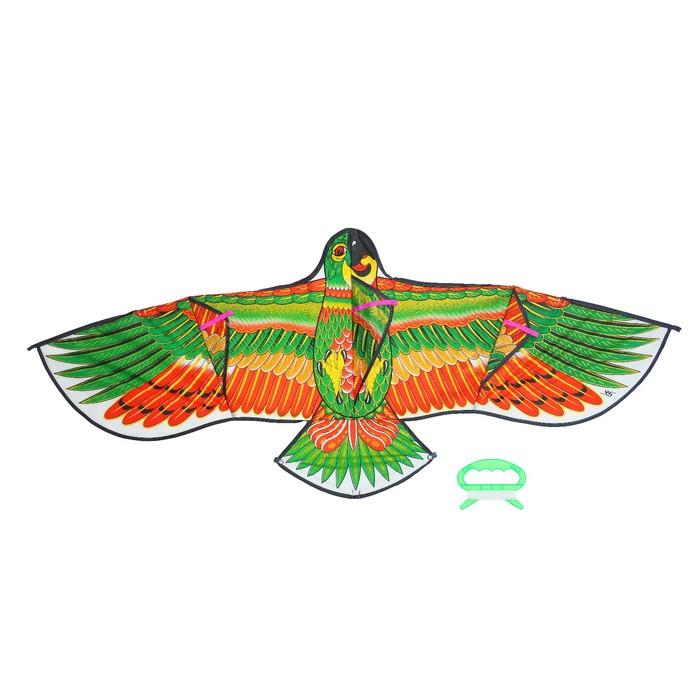 """Воздушный змей """"Попугай"""" с леской"""