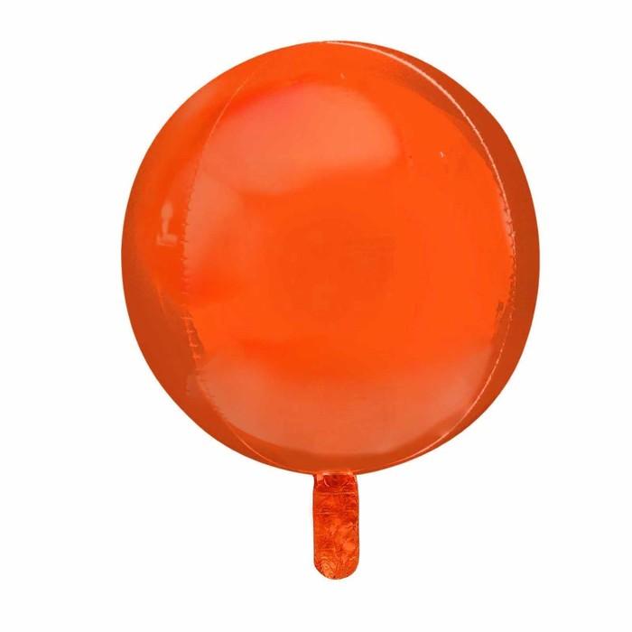 """Шар полимерный 22"""" 3D-сфера, 1 шт., макарун, цвет оранжевый - фото 308469765"""