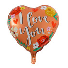 """Balloon foil heart 18"""" """"I love you"""", flowers and hearts"""