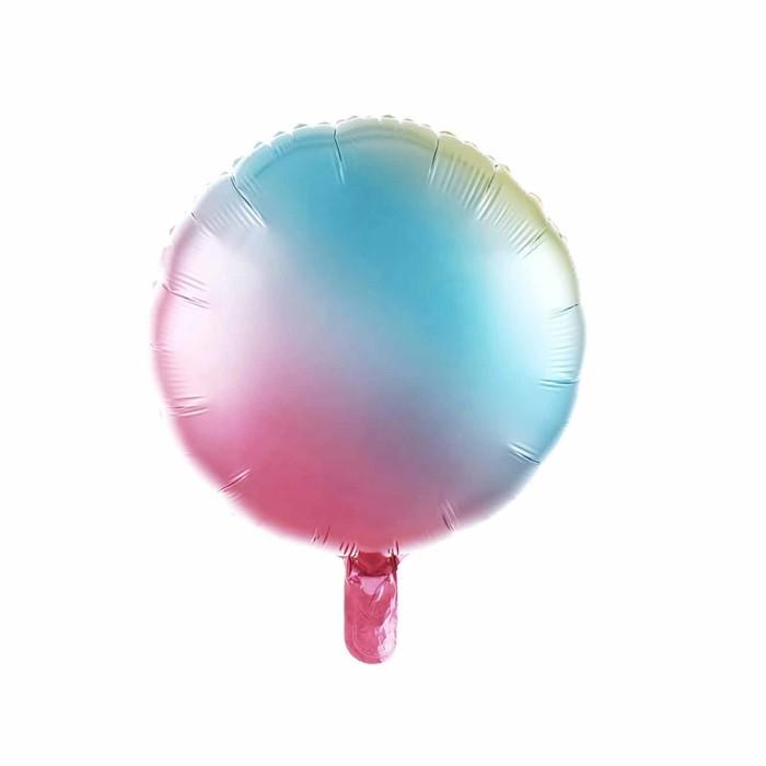 """Шар фольгированный круг 17"""", разноцветный - фото 308472991"""
