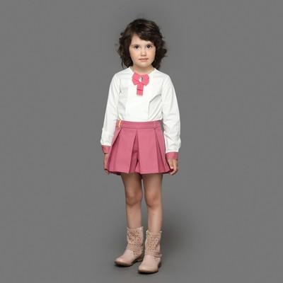 Блузка для девочки, рост 92 см, цвет кремовый