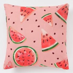 """Decorative pillow Ethel """"Watermelons"""" 45×45 cm, reps, density 130 g/m2, 100% cotton"""