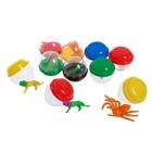 Набор игрушек в яйце «Животный мир», набор из 10 яиц