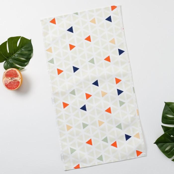 Полотенце Этель «Треугольники», 35×65 см на петельке, репс, пл. 130 г/м², 100% хлопок - фото 875527