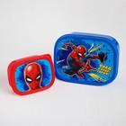 """Ланч-бокс набор прямоугольный """"Человек-паук"""", Человек-паук"""