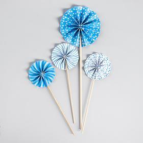 Украшение для торта «Фант», цвет голубой