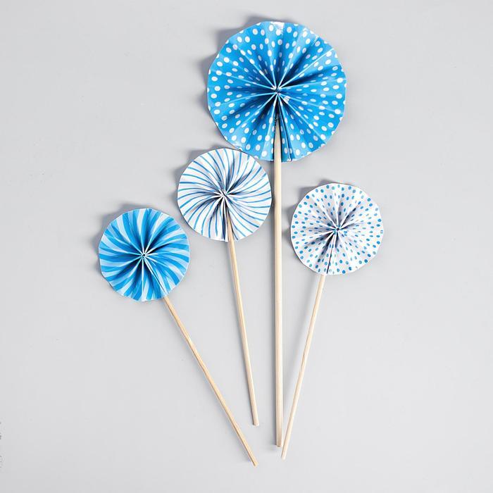 """Украшение для торта """"Фант"""" цвет голубой"""