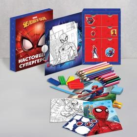 """Набор для рисования """"Настоящий супергерой"""", Человек-паук 35 предметов"""