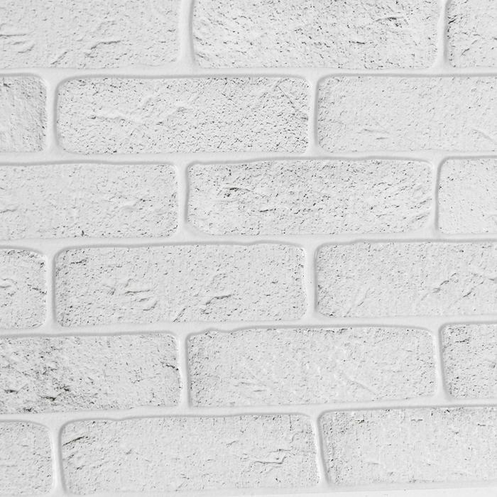 Панель ПВХ Лофт белый 960*480*0,3 мм