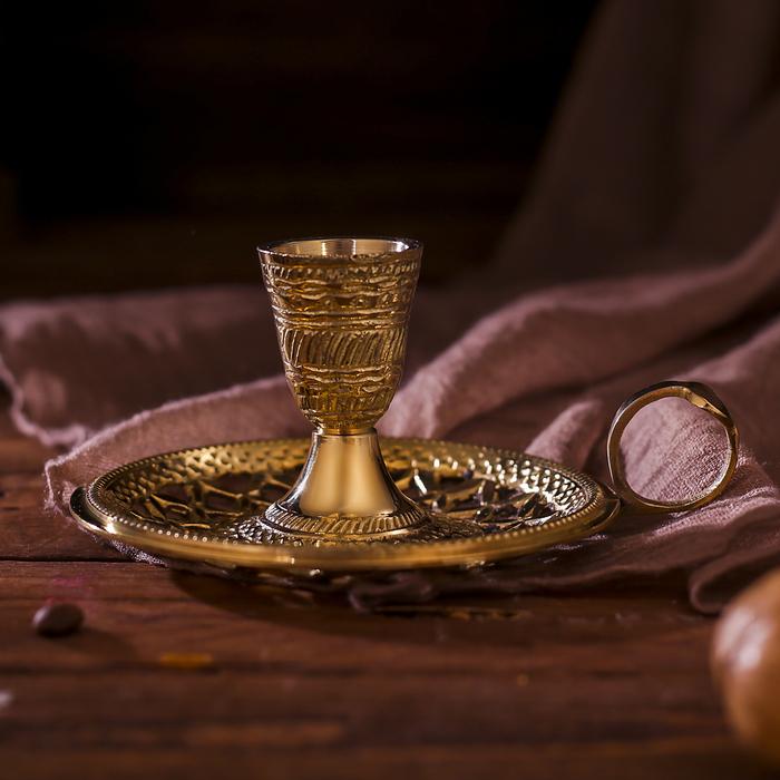 "Подсвечник латунь на 1 свечу ""Праздник"" 11х14х5 см"