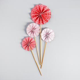 Украшение для торта «Фант», цвет розовый
