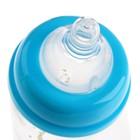 Бутылочка для кормления стеклянная, с широким горлом, 240 мл, от 0 мес. - фото 105537634
