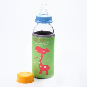 Бутылочка для кормления стеклянная, ср. поток, 300 мл, от 0 мес., цвет МИКС