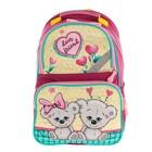 Рюкзак школьный с эргономической спинкой Luris Тимошка 37x26x13 см для девочки, «Мишки»