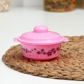 "Bowl with lid 200 ml ""Crocuses"", MIX color"