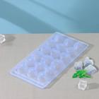 Shape ice cube 22×11×2 cm, 18 cells, MIX color