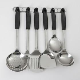 Набор кухонных принадлежностей «Ночь», 6 предметов, на подвесе