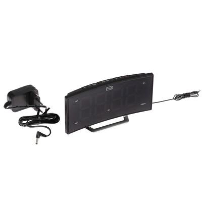 """Часы радиобудильник MAX CR-2906W, FM, два будильника, дисплей 1.8"""", черные"""