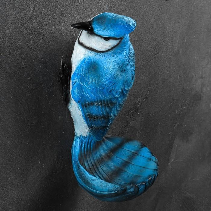 "Подвесной декор - кормушка ""Сойка голубая"" 12х13х24см - фото 798144856"