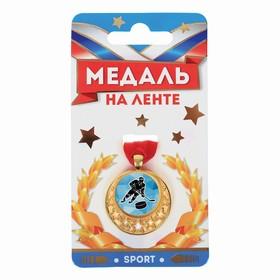 Медаль звезды мини 'Хоккей', диам. 3.5 см Ош