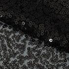Ткань для пэчворка «Черная» пайетки, 33 × 33 см