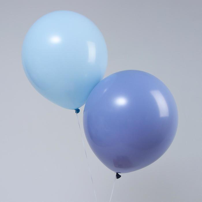 "Шар латексный 18"" ""Макарун"", набор 2 шт., цвет синий и голубой - фото 951943"