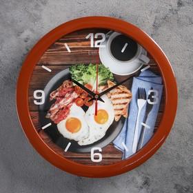 """Часы настенные, серия: Кухня, """"Прованский завтрак"""", плавный ход, d=28 см"""