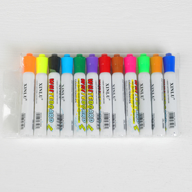 A set of markers, water based, 12 PCs