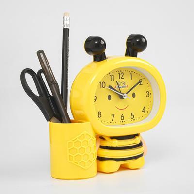 """Будильник """"Пчела"""", желтая,  13.5х14.5 см"""