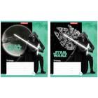 """Тетрадь 12 листов клетка """"Звёздные Войны. Свет далёких планет"""", обложка мелованный картон 170 г/м2, микс"""