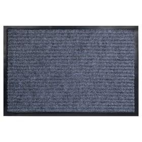 Коврик придверный влаговпитывающий, ребристый, «Стандарт», 40×60 см, цвет серый