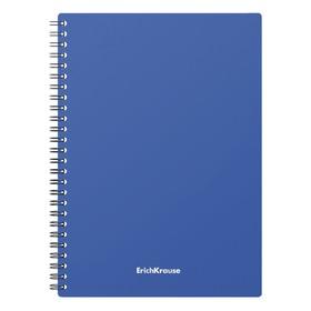 Тетрадь А5, 60 листов на гребне, ErichKrause Classic, пластиковая обложка, синяя