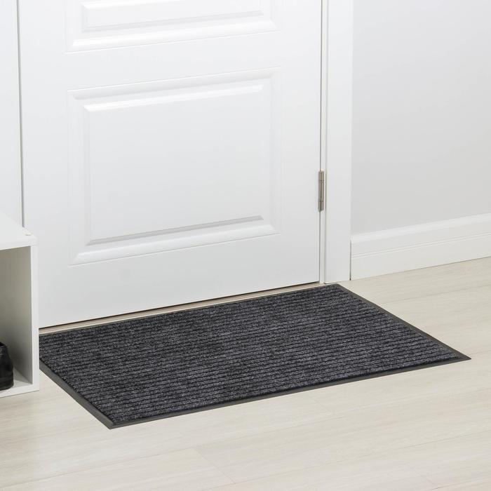 Коврик влаговпитывающий ребристый 60х90 см «БАРЬЕР» цвет серый - фото 282122428