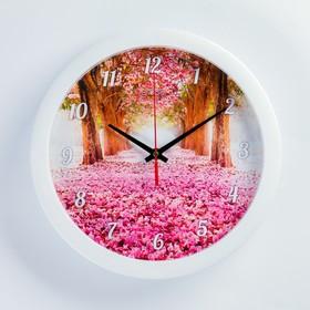 """Часы настенные, серия: Природа, """"Весеннее настроение"""", плавный ход, d=28 см"""