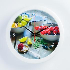 """Часы настенные, серия: Кухня, """"Осенний урожай"""", плавный ход, d=28 см"""