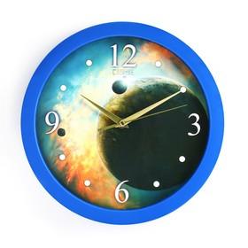 """Часы настенные, серия: Интерьер, """"Галактика"""", плавный ход, d=28 см"""