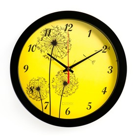 """Часы настенные, серия: Цветы, """"Одуванчики"""", 28х28 см"""