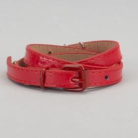 Ремень детский «Долли», лаковый, пряжка и хомут в цвет ремня, ширина 1,5 см, цвет красный