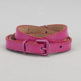 Ремень детский «Долли», лаковый, пряжка и хомут в цвет ремня, ширина 1,5 см, цвет малиновый