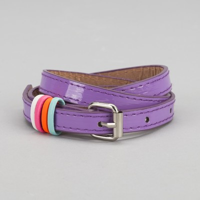 Strap baby Donna, lacquer, metal buckle, width 1,5 cm, color purple