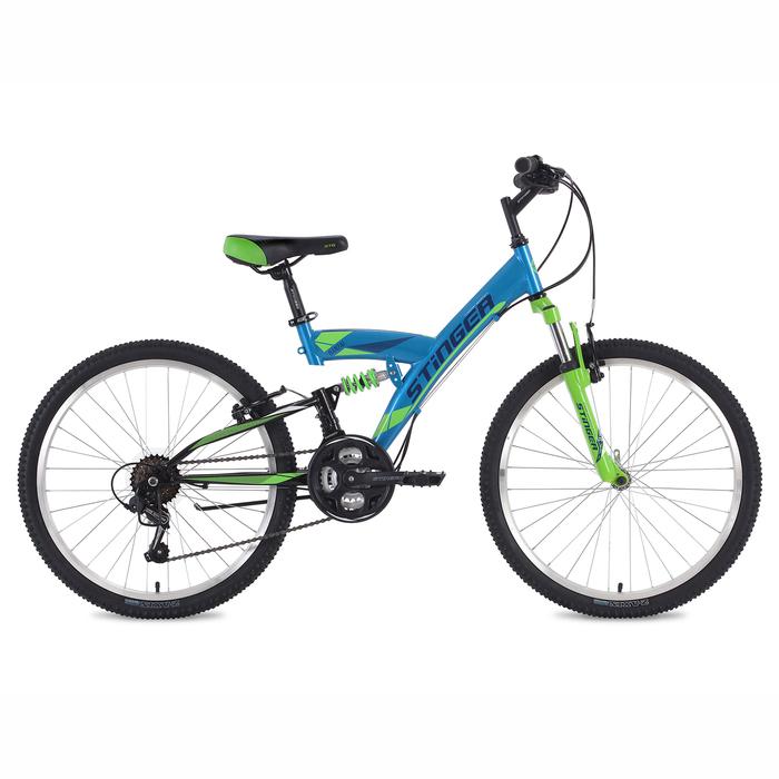 "Велосипед 24"" Stinger Banzai, 2018, цвет синий, размер 14"""