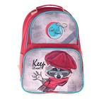 Рюкзак школьный с эргономической спинкой Luris Тимошка 37x26x13 см для девочки, «Енот»