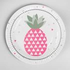 "Plate paper ""Pineapple"" set of 6 PCs"