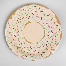 Тарелка бумажная «Пончик», набор 6 шт.